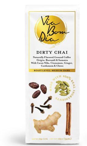 Dirty Chai Ground Coffee - Available on Amazon