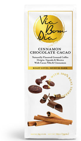 Cinnamon Chocolate Cacao Ground Coffee - Available on Amazon