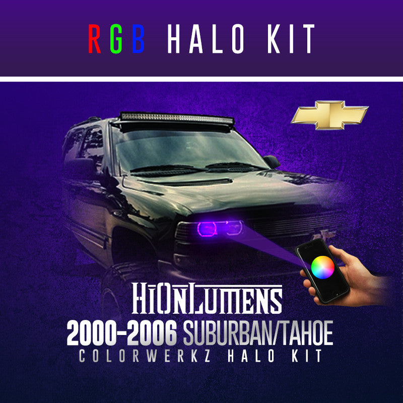 2000-2006 Suburban/Tahoe (Full Kit) RGB Halo Kit