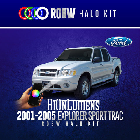 2001-2005 Ford Explorer Sport Trac RGBW Halo Kit