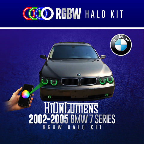 2002-2005 BMW 7 Series RGBW Halo Kit