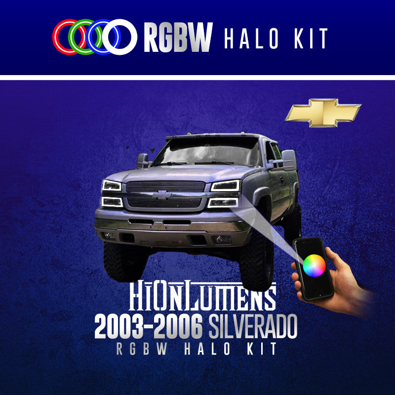 2003-2006 Chevrolet Silverado RGBW Halo Kit