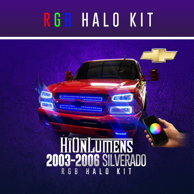 2003-2006 Silverado (Full Kit) RGB Halo Kit