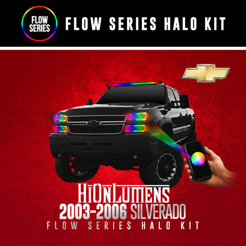 2003-2006 Chevrolet Silverado Cateye Flow Series Halo Kit