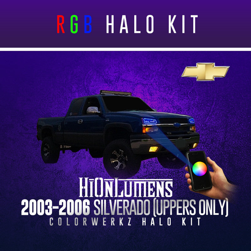 2003-2006 Silverado (Uppers Only) RGB Halo Kit