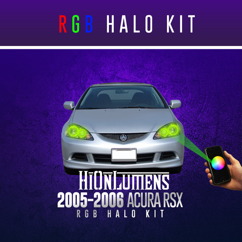 2005-2006 Acura RSX RGB Halo Kit