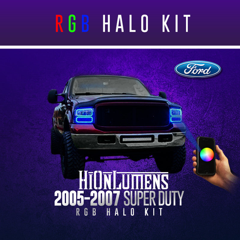 2005-2007 Ford Super Duty RGB Halo Kit