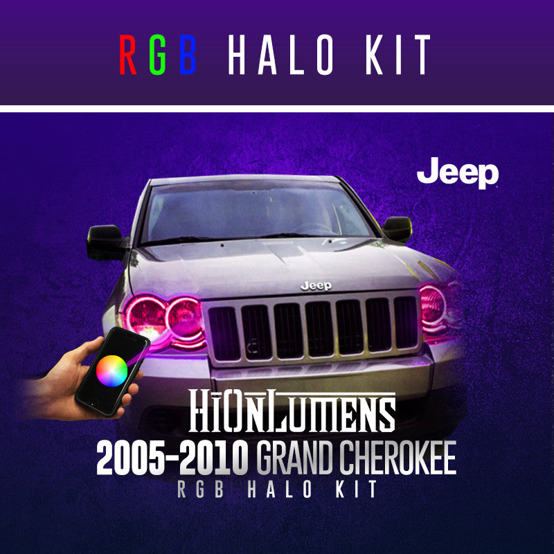 2005-2010 JEEP Grand Cherokee RGB Halo Kit