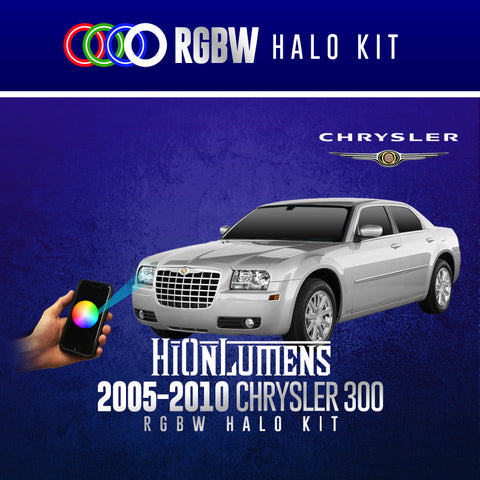 2005-2010 Chrysler 300 RGBW Halo Kit