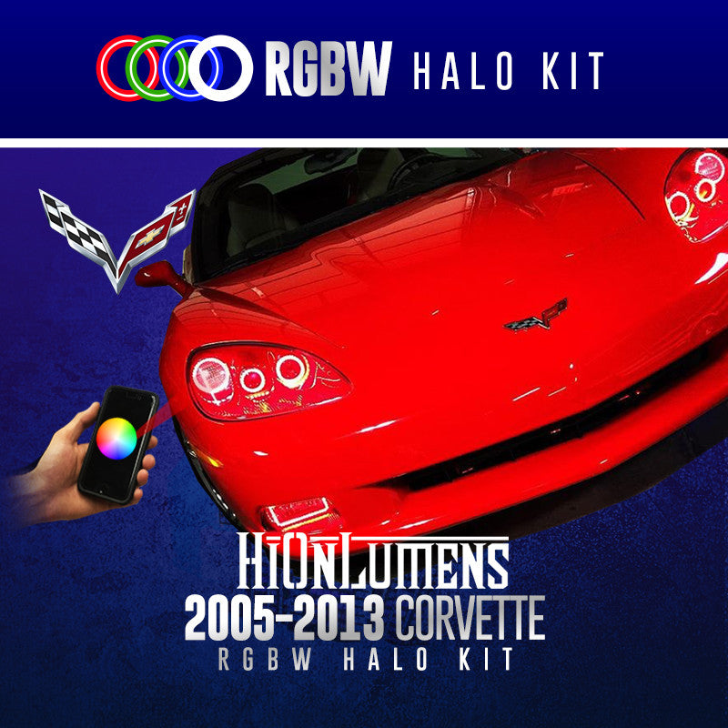 2005-2013 Chevrolet Corvette RGBW Halo Kit