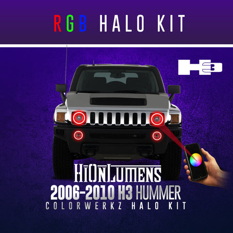 2006-2010 Hummer H3 RGB Halo Kit
