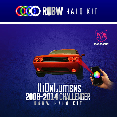 2008-2014 Dodge Challenger RGBW Halo Kit