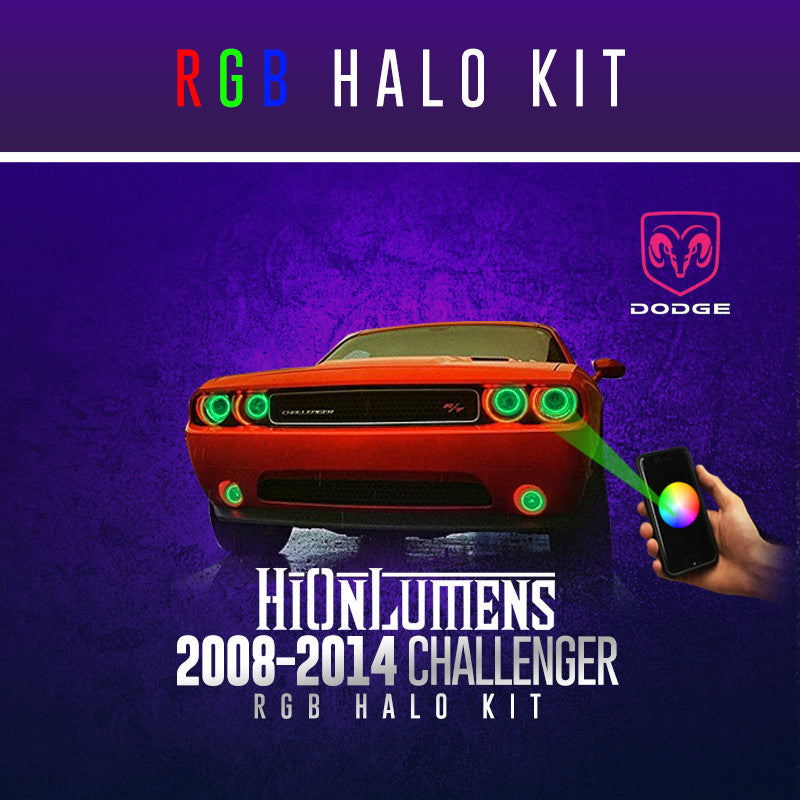 2008-2014 Dodge Challenger RGB Halo Kit