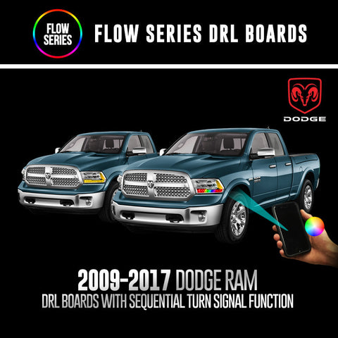 2009-2017 Dodge Ram Flow Series DRL Boards with Sequential Turn Signal