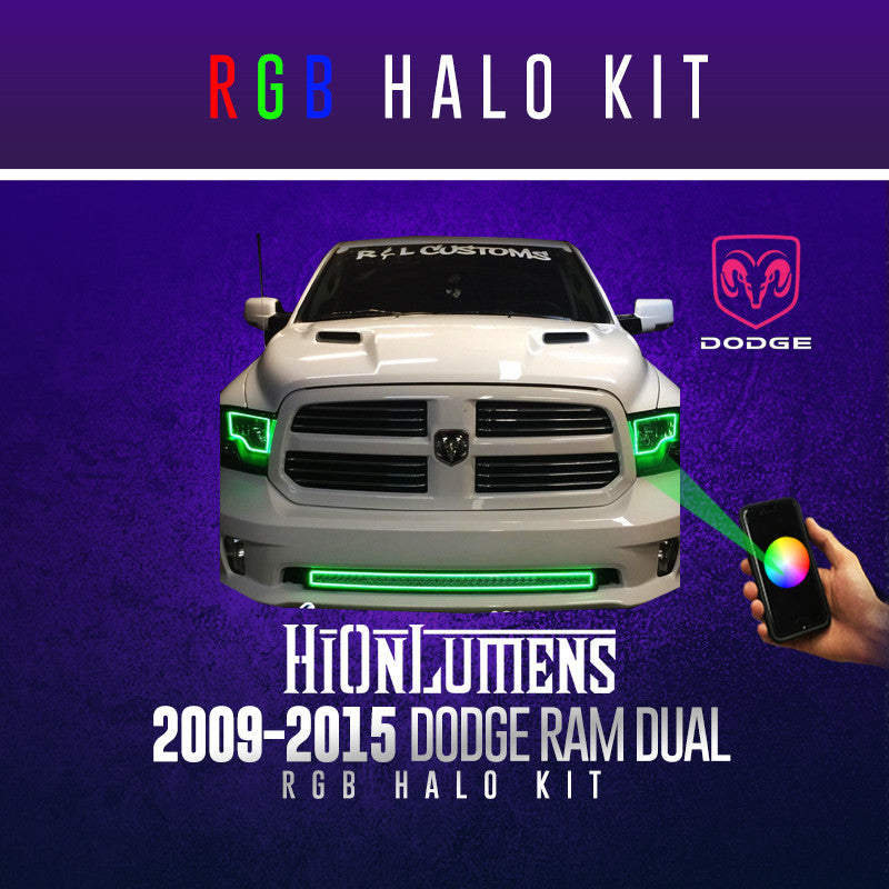 2009-2015 Dodge Ram Dual RGB Halo Kit