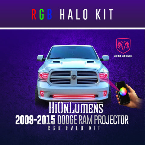 2009-2015 Dodge Ram Projector RGB Halo Kit