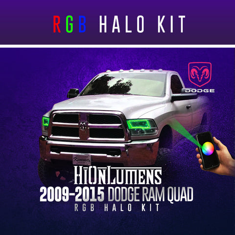 2009-2015 Dodge Ram Quad RGB Halo Kit