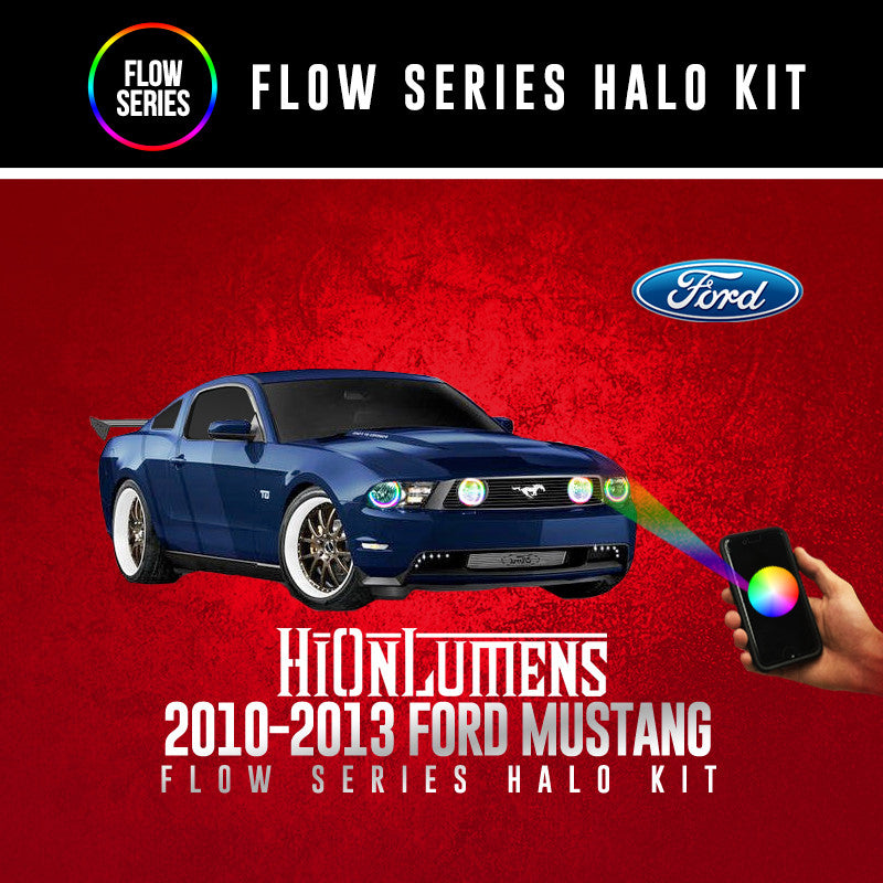2010-2013 Ford Mustang Flow Series Halo Kit