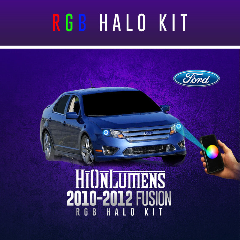 2010-2012 Ford Fusion RGB Halo Kit