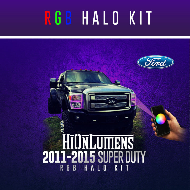 2011-2015 Ford F-250 RGB Halo Kit