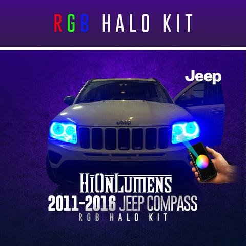 2011-2016 Jeep Compass RGB Halo Kit