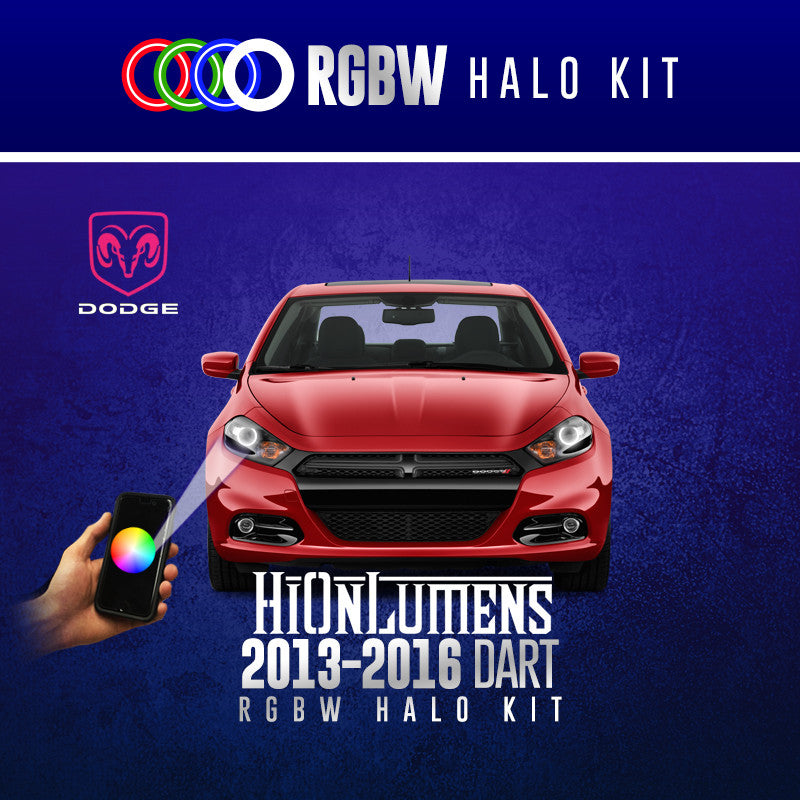 2013-2016 Dodge Dart RGBW Halo Kit
