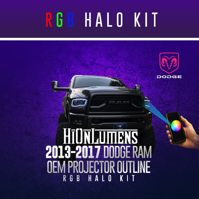 2013-2017 Dodge Ram OEM Projector Outline RGB Halo Kit