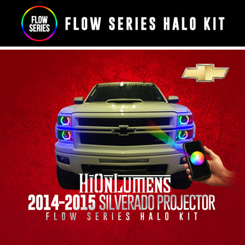 2014-2015 Chevrolet Silverado Projector Flow Series Halo Kit