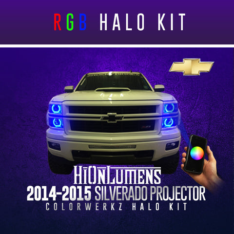 2014-2015 Silverado Projector RGB Halo Kit