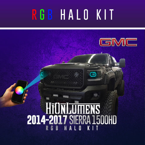 2014-2017 GMC Sierra 1500HD RGB Halo Kit