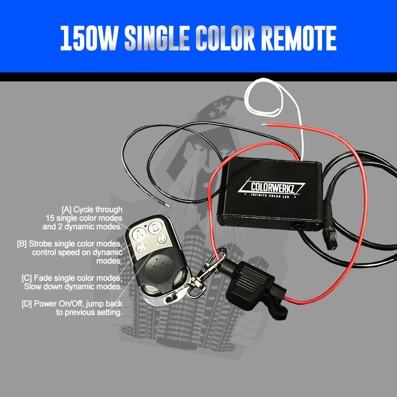 150W Single Color Remote