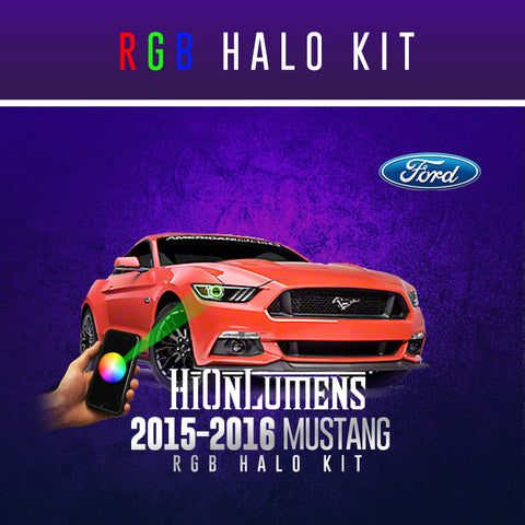2015-2016 Ford Mustang RGB Halo Kit