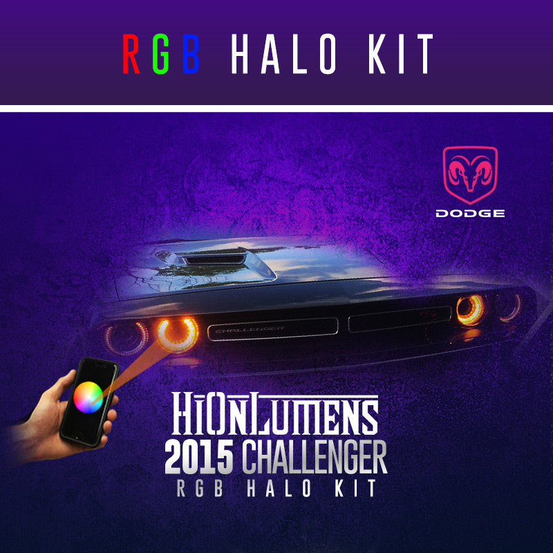 2015-2016 Dodge Challenger RGB Halo Kit