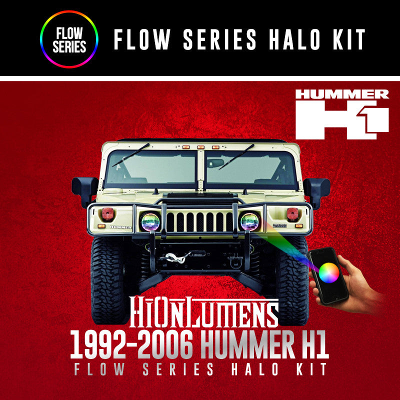 1992-2006 Hummer H1 Flow Series Halo kit