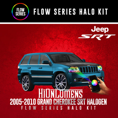 2005-2010 Jeep Grand Cherokee SRT (Halogen) Flow Series Halo Kit