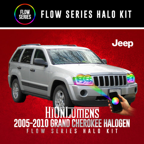 2005-2010 Jeep Grand Cherokee (Halogen) Flow Series Halo Kit