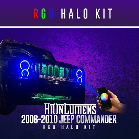 2006-2010 Jeep Commander RGB Halo Kit