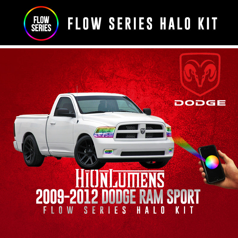 2009-2012 Dodge Ram Sport (Quad) Flow Series Halo Kit