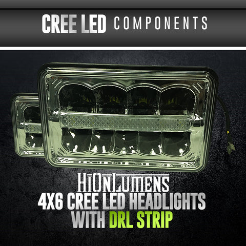 4x6 CREE with DRL Strip