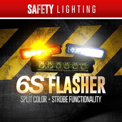 6S Flasher | Split Color + Strobe Functionality