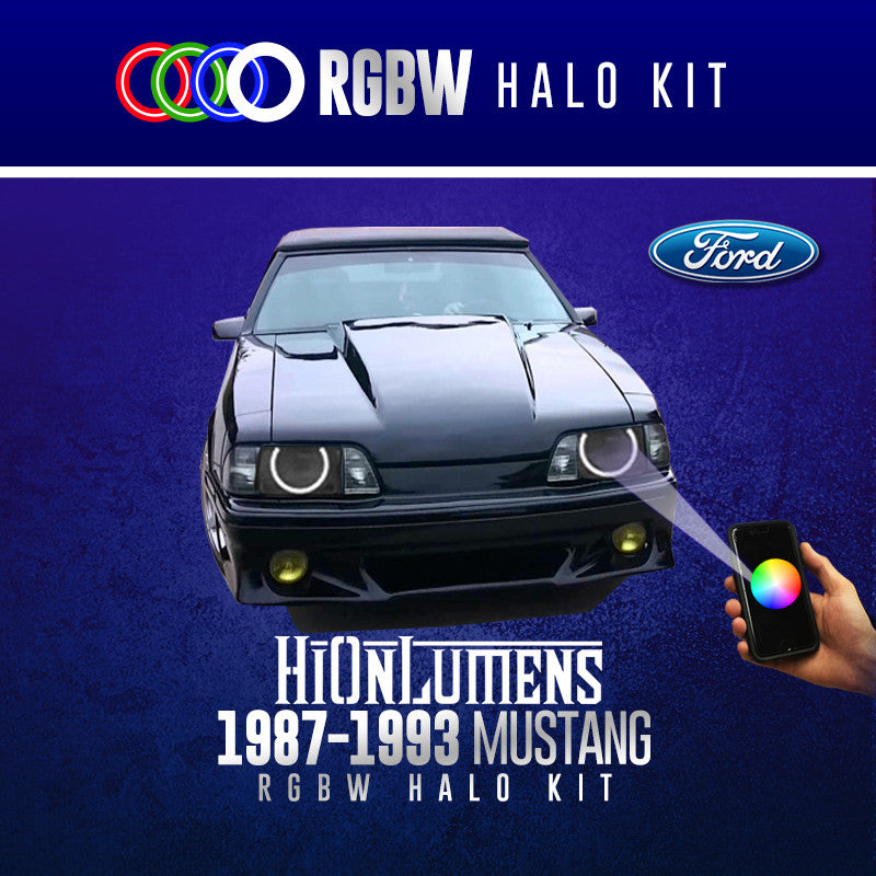 1987-1993 Ford Mustang RGBW Halo Kit