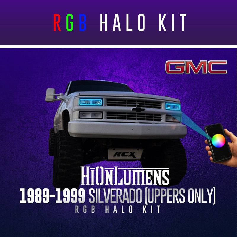 1989-1999 Silverado (Uppers Only) RGB Halo Kit