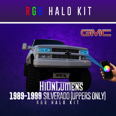 1989-1999 GMC Sierra RGB Halo Kit (Uppers Only)