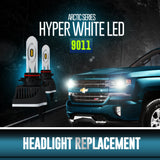 Arctic Series Hyper White LED Headlight Replacements