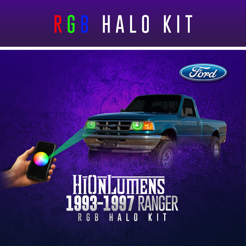 1993-1997 Ford Ranger RGB Halo Kit