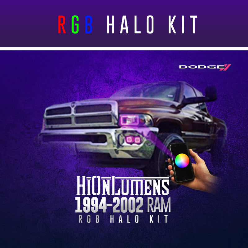 1994-2002 Dodge Ram (2nd Generation) RGB Halo Kit
