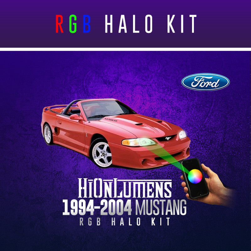 1994-2004 Ford Mustang RGB Halo Kit