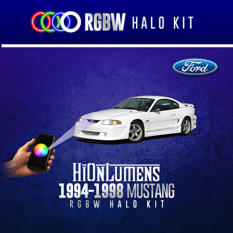 1994-1998 Ford Mustang RGBW Halo Kit