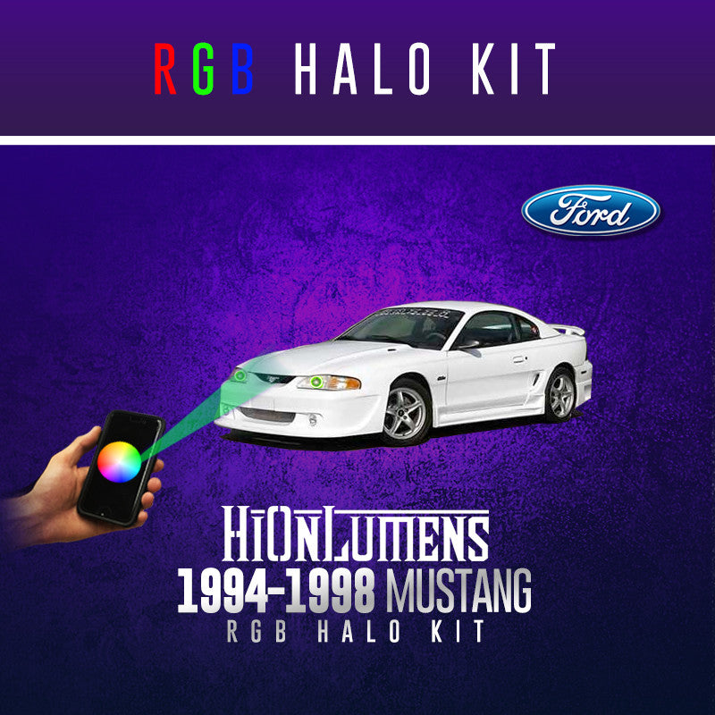 1994-1998 Ford Mustang RGB Halo Kit