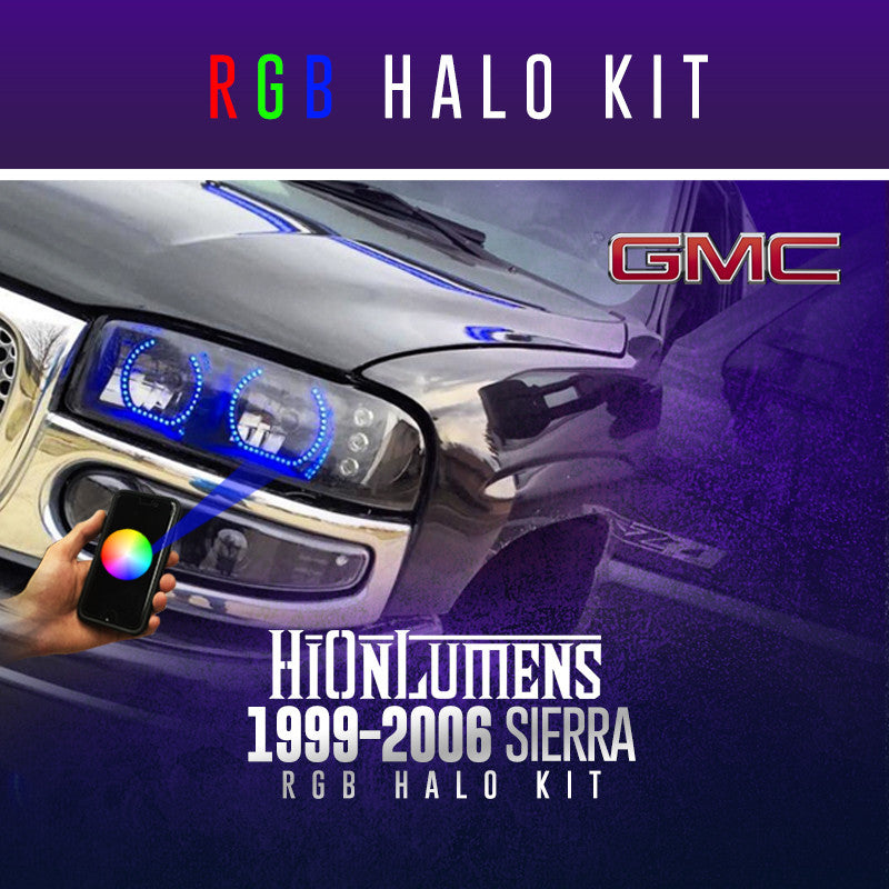 1999-2006 GMC Sierra RGB Halo Kit